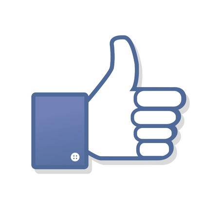 Face symbol hand i like fan fanpage social voting dislike network book icon community Illustration