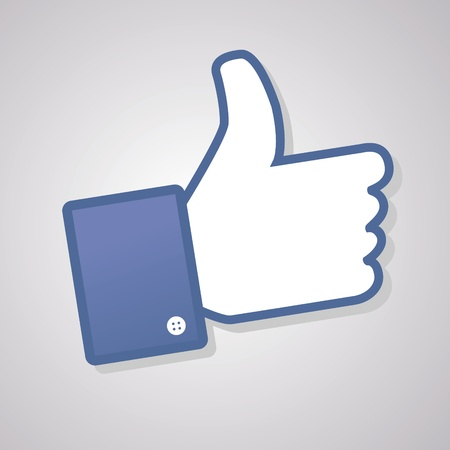 i like: Face symbol hand i like fan fanpage social voting dislike network book icon community Illustration
