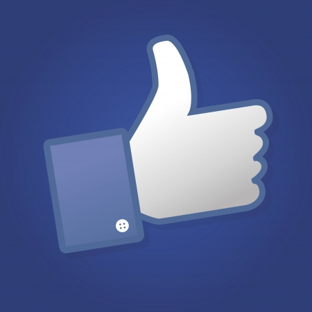 socially: Face symbol hand i like fan fanpage social voting dislike network book icon community Illustration