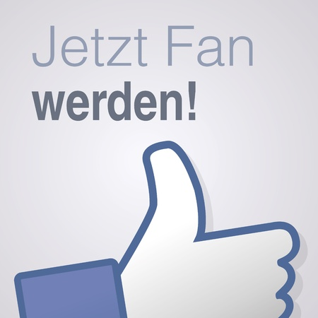 Face symbol hand i like fan fanpage social voting dislike network book icon jetzt fan werden Vector