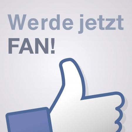 Face symbol hand i like fan fanpage social voting dislike network book icon werde jetzt fan Stock Vector - 14757884