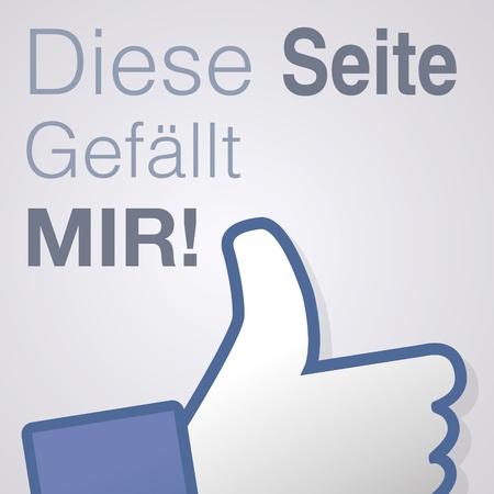 Face symbol hand i like fan fanpage social voting dislike network book icon Diese seite gefällt mir Vector