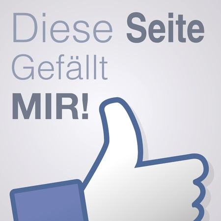 Face symbol hand i like fan fanpage social voting dislike network book icon Diese seite gefällt mir Vector
