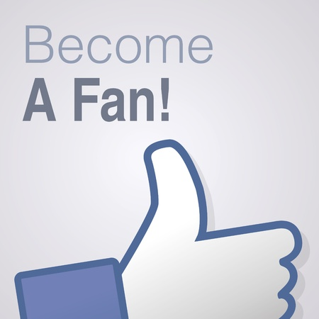 Face symbol hand i like fan fanpage social voting dislike network book icon Become a fan Vector