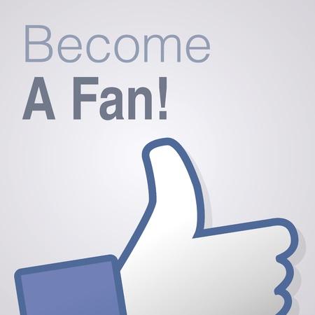 dislike: Gezicht symbool de hand ik hou fan fanpage sociale stemmen afkeer netwerk boekpictogram Word fan