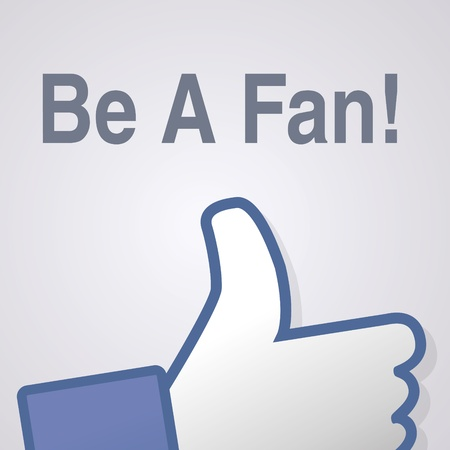 Face symbol hand i like fan fanpage social voting dislike network book icon Be a fan Vector