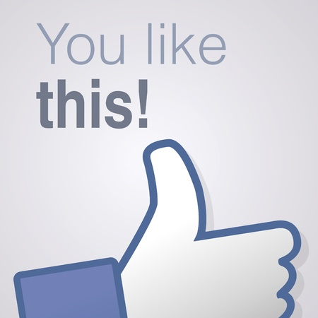 Face symbol hand i like fan fanpage social voting dislike network book icon You like this Vector