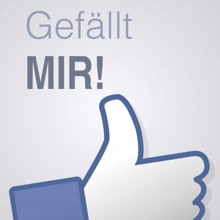 Face symbol hand i like fan fanpage social voting dislike network book icon Gefällt mir Vector