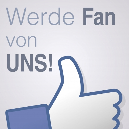 Face symbol hand i like fan fanpage social voting dislike network book icon werde fan von uns Vector