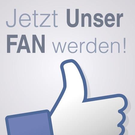 socially: Face symbol hand i like fan fanpage social voting dislike network book icon Jetzt unser fan werden