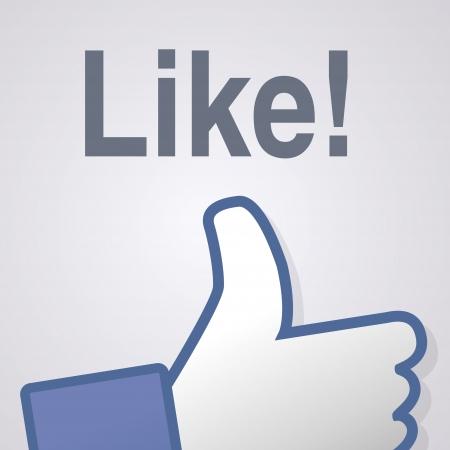 dislike: Gezicht symbool de hand ik hou fan fanpage sociale stemmen afkeer netwerk boekpictogram gemeenschap Stock Illustratie