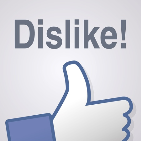 Face symbol hand i like fan fanpage social voting dislike network book icon community Vector