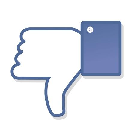 dislike: Gezicht symbool de hand Ik hou fan fanpage sociale stemming afkeer netwerk boekpictogram gemeenschap