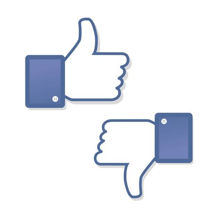 like hand: Face symbol hand i like fan fanpage social voting dislike network book icon community Illustration