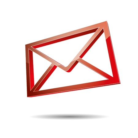 postbox: 3d email e-mail senden post at mailbox support contact pictogram sign symbol message
