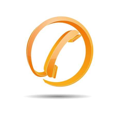 Contact circle phone hotline kontaktfomular callcenter call pictogram sign symbol telephone Stock Vector - 14757911