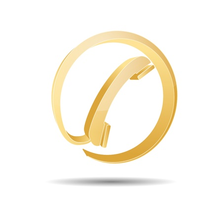 Contact circle phone hotline kontaktfomular callcenter call pictogram sign symbol telephone Stock Vector - 14757908