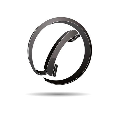 Contact circle phone hotline kontaktfomular callcenter call pictogram sign symbol telephone Stock Vector - 14757928