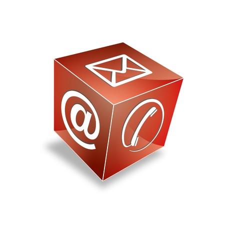 hotline: 3d Kontakt cube telefonisch unter E-Mail E-Mail-Hotline kontaktfomular callcenter Anruf Piktogramm symbol cube Illustration