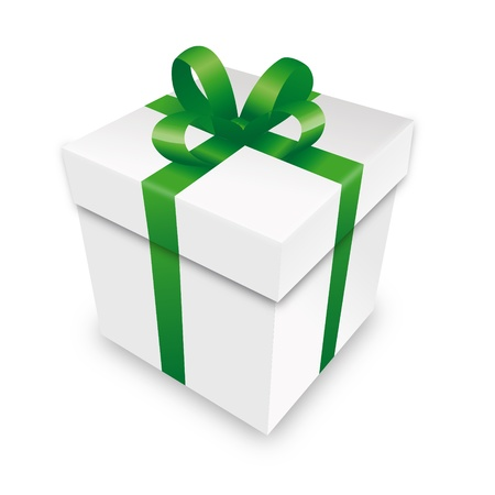 advent calendar: gift package gift box packet green parcel wrapping xmas valentine Illustration
