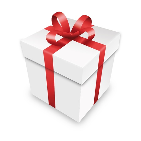 free gift: gift package gift box red packet parcel wrapping xmas valentine Illustration