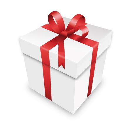 advent calendar: gift package gift box red packet parcel wrapping xmas valentine Illustration