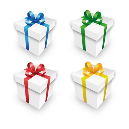 bucle: paquete de regalo caja de regalo conjunto parcela paquete rojo xmas valentín Vectores