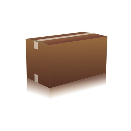 removals boxes: parcel parcel delivery transport box cardboard delivery parcel shipment tracking logistics Illustration