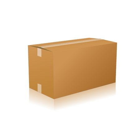 parcel parcel delivery transport box cardboard delivery parcel shipment tracking logistics Stock Vector - 15329318
