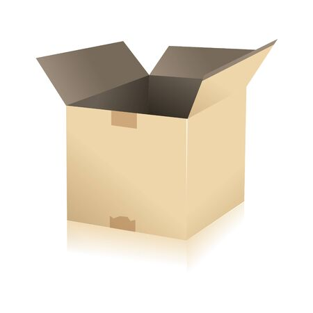 parcel parcel delivery transport box cardboard delivery parcel shipment tracking logistics Stock Vector - 15329302