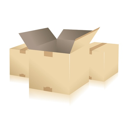 parcel parcel delivery transport box cardboard delivery parcel shipment tracking logistics Stock Vector - 15329299