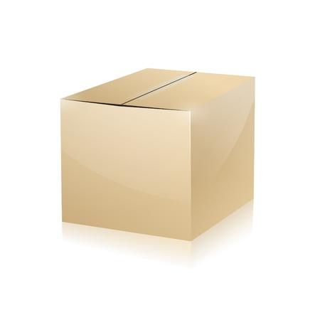 parcel parcel delivery transport box cardboard delivery parcel shipment tracking logistics Ilustracja