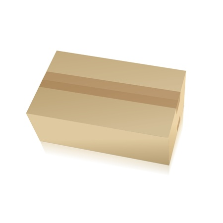 work crate: parcel parcel delivery transport box cardboard delivery parcel shipment tracking logistics Illustration