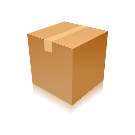 parcel parcel delivery transport box cardboard delivery parcel shipment tracking logistics Illustration