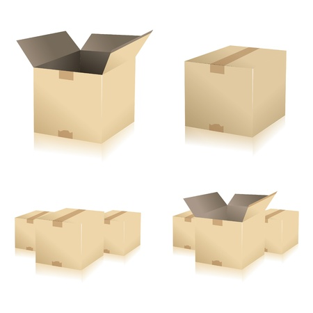 work crate: parcel parcel delivery set transport box cardboard delivery parcel shipment tracking logistics