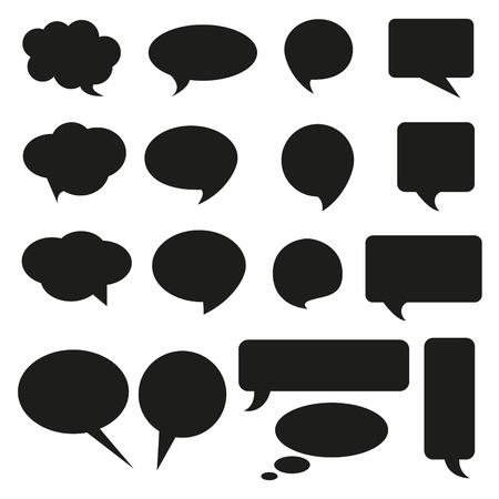 speech bubble: Parler de bulle ic�ne bulle pens�e bulle ic�ne bulle r�ponse aide mindmap publicit� internet faq comique Illustration