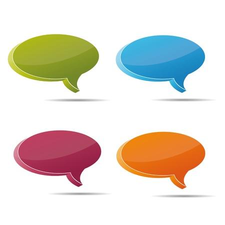 thoughtless: Talking bubble set speech bubble thought bubble icon bubble help answer mindmap internet advertising faqs comic Illustration