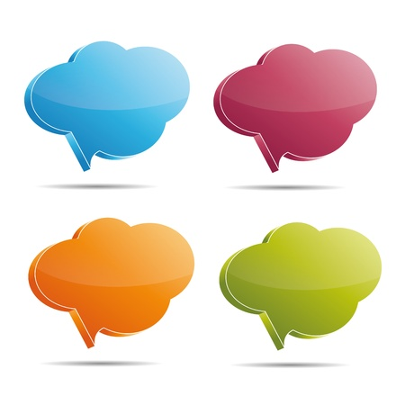 Talking bubble set speech bubble thought bubble icon bubble help answer mindmap internet advertising faqs comic Vector