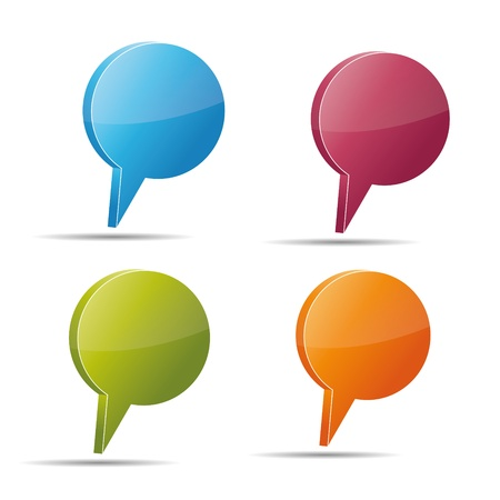 Talking bubble set speech bubble thought bubble icon bubble help answer mindmap internet advertising faqs comic Stock Vector - 15362120