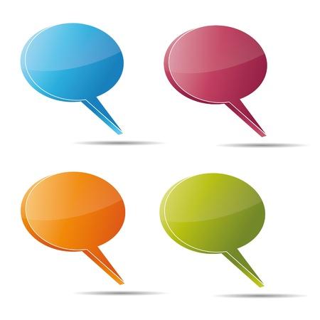 referat: Talking bubble set speech bubble thought bubble icon bubble help answer mindmap internet advertising faqs comic Illustration
