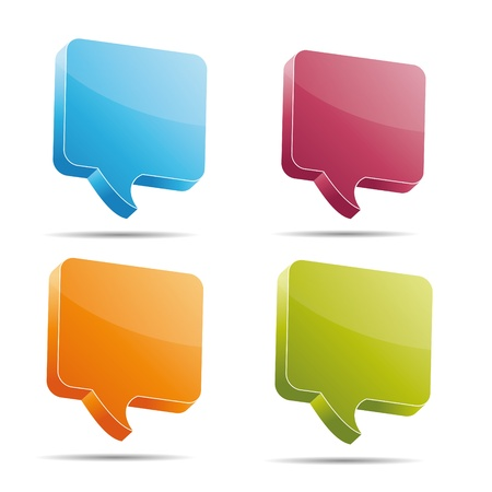 Talking bubble set speech bubble thought bubble icon bubble help answer mindmap internet advertising faqs comic Stock Vector - 15362115