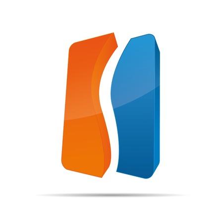 trademark: 3D abstracto de la onda cubo formulario s�mbolo corporativo dise�o ic�nico logo marca