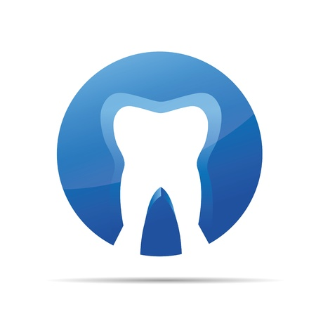 3D dental dentist doctor corporate design icon logo trademark Vector