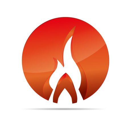 3D abstraction fire flame broil globe circular corporate logo design icon sign business
