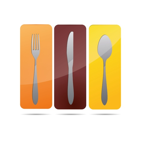 3D abstraction cookbook plate restaurant cutlery wineglass corporate logo design icon sign   Stock Vector - 15764236