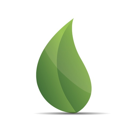 leaf logo: 3D nature tree green leaf zen wellness corporate design icon logo trademark
