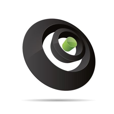 trademark: 3D abstracto anillo c�rculo punto s�mbolo corporativo dise�o ic�nico logo marca