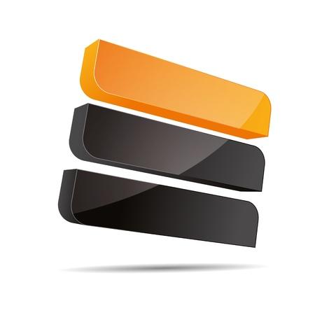 trademark: 3D abstracto corporativo naranja, sol, verano rect�ngulo r�gido cubo l�nea de dise�o de velas icono logotipo de la marca