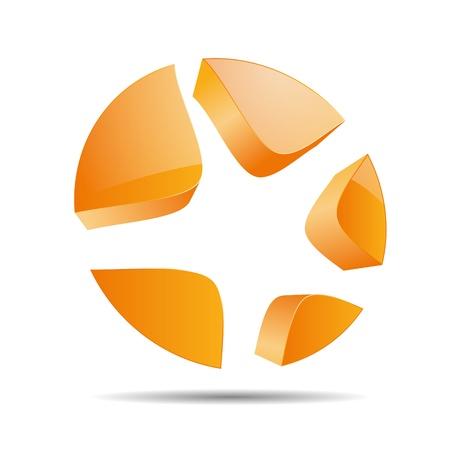 trademark: 3D tiro abstracto c�rculo actrices estrella s�mbolo corporativo dise�o ic�nico logo marca