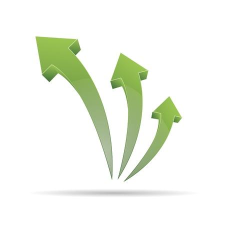 trademark: 3D abstracto direcci�n flecha verde puntero dise�o ic�nico logo marca